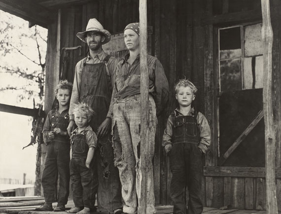 John Vachon: An Ozark mountain farmer and family, Missouri. May, 1940.