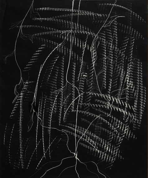 Vincenzo AgnettiPhoto-Graffia, 1980Exposed and scratchy photographic paper51x60.5cm