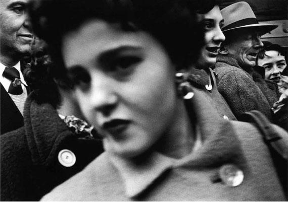 William Klein: Big face in crowd New York, 1955; Gelatin Silver Print