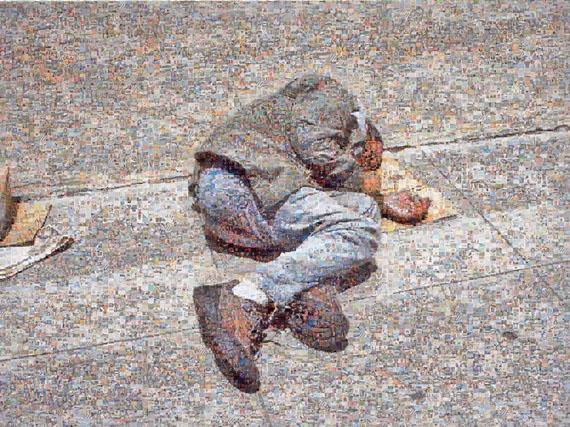 "Joan Fontcuberta, ""Googlegramme: Homeless"", 2005, 10000 images d'internet,120 x 160 cm. Courtesy de l'artiste - Topographie de l'Art"
