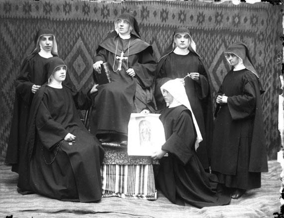 Sister Elisabeta, no date, Pietro Marubi, wet plate © Marubi National Museum of Photography, Shkodër