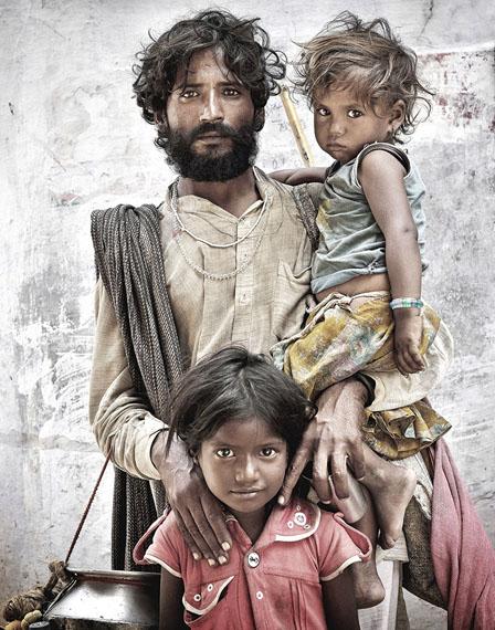 Mario Marino: Portrait eines Bettlers, Indien 2013