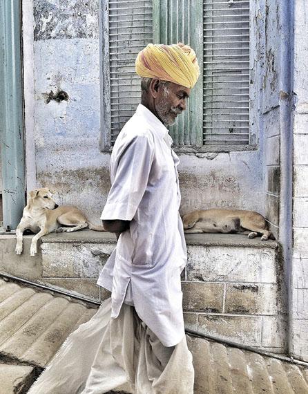 Mario Marino: Portrait eines Mannes, Indien, 2013