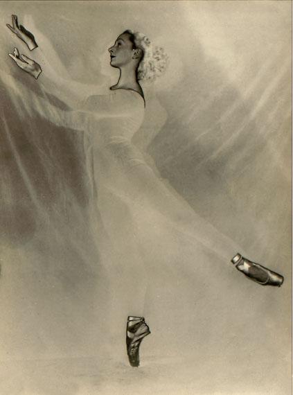 Jeanne Mandello: Ballerina 1, Montevideo 1946, Solarisation, Jeanne Mandello © Isabel Mandello de Bauer