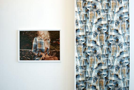 Eva StenramVanishing Point (2016)Digital print on silk, framed C-type print on Fuji Chrystal Archive Paper, wood support73 x 100 cm / framed 81 x 108 cm / length of fabric 10 m, Edition of 3