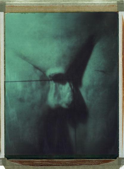 Paolo Gioli: Série Luminescente, 2007, Polaroid Polacolor, 25x20cm, contatto da pellicola fosforescente