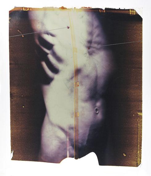 Paolo Gioli: Série Thorax, 2015 - Sebastiano, 2011, polaroid, optical, 60x50 cm