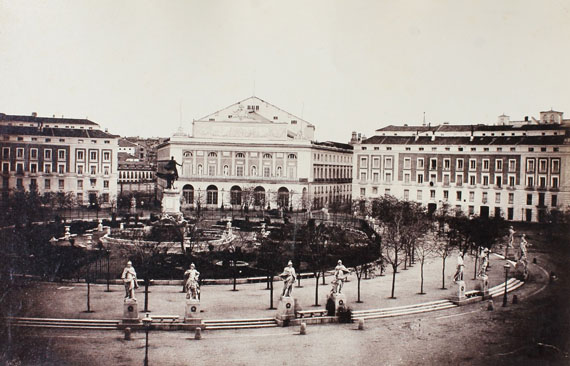 Charles Clifford, lot, 8, Madrid, plaza de Oriente, 1853
