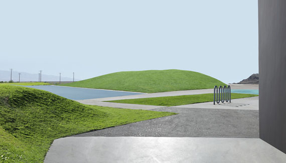 Landscape With Lawn, 201534 x 60 inches, 86,3 x 152,4 cm Ed. 1/7 +2 A.P.24 x 42 inches, 60,9 x 106,6 cm Ed. 1/7 +2 A.P.Archival pigment print © Lauren Marsolier