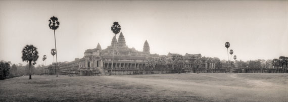Silke Lauffs, Angkor Wat at Sunrise, Angkor, Siem Reap, Cambodia, February 2005, Edition 6/25, Silver Gelatin Print, toned Sepia