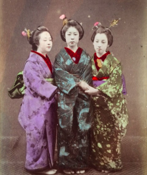 © Kusakabe Kimbei, Japanese hand-colored Albumen print, 19th Century