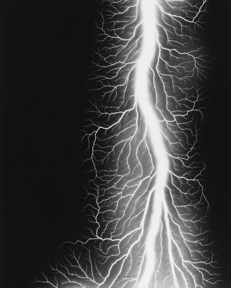 Lightning Fields 327, 2014. Gelatin silver print © Hiroshi Sugimoto