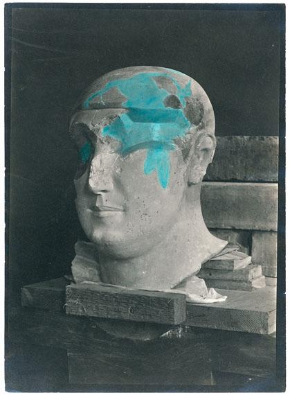 Archivbild, Roemer- und Pelizaeus-Museum Hildesheim, colorierter SW-Abzug, Kopf der Statue des Hem-iunu, PM 1962, 18 x 13 cm, undatiert