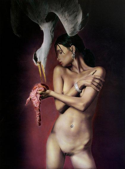 Antonin Tesar: girl with heron, 2004
