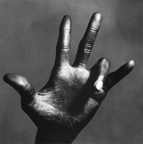 Irving Penn: The Hand of Miles Davis, New York, 1949-1950