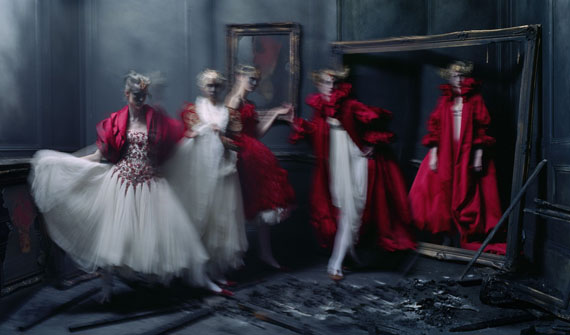 Tim WalkerXiao Wen Ju, Harleth Kuusik, Yumi Lambert, Nastya Sten, Alexander McQueen 'Romantic Naturalism' collection, London, 2014Accompanied by a signed certificate by the artistArchival pigment print on Harman gloss paper166.5 x106.8Edition of 10© Tim WalkerCourtesy Michael Hoppen Gallery