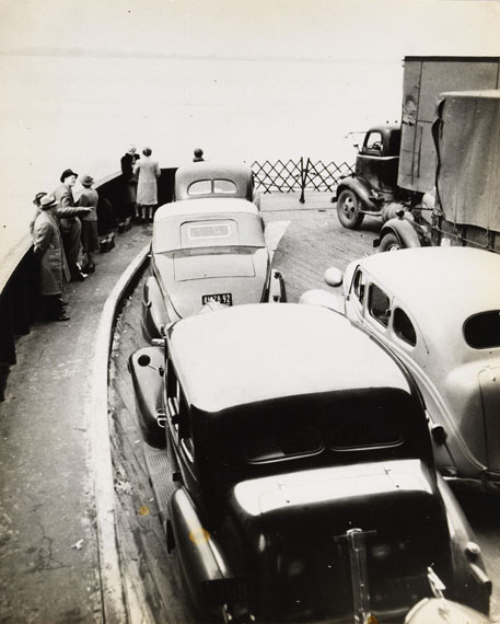 Robert Haas: ON THE FERRY, NEW YORK CITY, 1940s