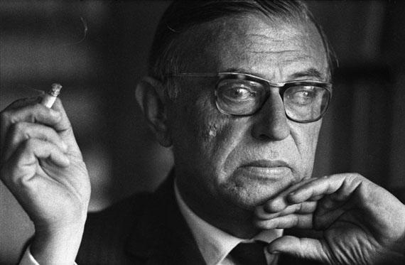 Jean-Paul Sartre, 1961© Léon Herschtritt / LA COLLECTION, service presseCourtesy Galerie Esther Woerdehoff