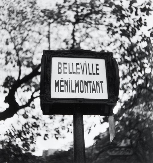 Lot 96Willy Ronis (1910-2009)Carrefour des rues Vilin et PiatBelleville, Paris, 1959Gelatin silver print (c. 1990)