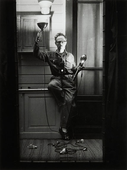 Lot 8Willy Ronis (1910-2009)Autoportrait aux flashesParis, 1951Gelatin silver print (c. 1970),signed in ink in the lower margin at right