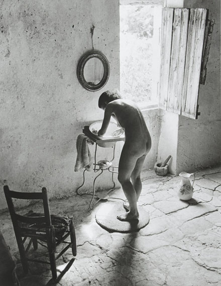 Lot 11Willy Ronis (1910-2009)Le nu provençalGordes, été 1949Gelatin silver print (c. 1990), signed in ink in the lower margin at right