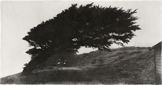 "Jungjin Lee: ""Wind"" 2007, Photo Emulsion on Mulberry Paper, Mounted on Mulberry Paper, 73,7 x 144,8 cm © Jungjin Lee"