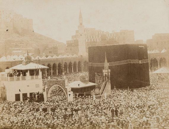 228. Muhammad Sadiq Bey (1832-1902)Arabie Saoudite, 1880. La Mecque, Médine, lieux saints de l'Islam et pèlerinage.Important set composed of 3 panoramas and 9 albumen prints.