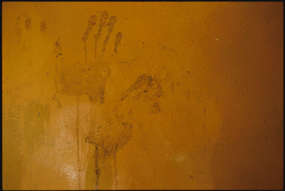 "Marissa Roth: ""Monk handprints left on a wall at Jokhang Monastery, in Lhasa"" 2007 © Marissa Roth"