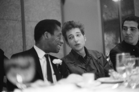 James Baldwin and Bob Dylan, New York City, 1963 © Ted Russell