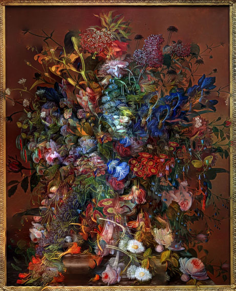 Flowers for Lisa #5 / Composite Picture of Flower Painting, Philadelphia Museum of Art, 2016©Abelardo Morell/Courtesy of Edwynn Houk Gallery, New York