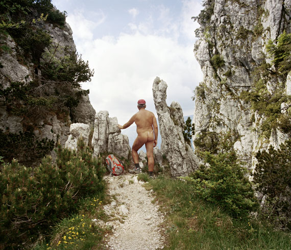 """Roshan AdhihettyUntitled, from the serie """"Naked Hikers"""", 2017Pigmentjet print mounted on aluminium83 x 72 cmEdition of 5 + 2AP"""