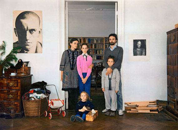 Beate und Matthias mit Patchworkfamilie, Weihnachten 1986  © Harf Zimmermann