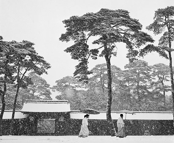 Meiji shrine, Tokyo, Japan, 1951, Platinum Palladium Print, Edition of 5 & 1 AP, 76 x 65 cm, signed and stamped by estate© Werner Bischof