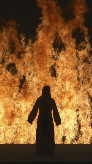 Bill Viola: Fire Woman, 2005Color High-Definition video projection; four channels of sound with subwoofer (4.1)Performer: Robin Bonaccorsi © Kira Perov, courtesy of Bill Viola Studio