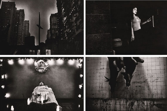 Lot 9Paulo Nozolino, UntitledPolyptych (4 pieces)Gelatin silver prints mounted on aluminiumSigned, dated Macau 1999 and numbered 1/1 on the reverse58,5x88,5 cm