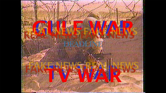 Michel Auder, Gulf War TV War, 1991, edited 2017, digital video, still, EMST-National Museum of Contemporary Art, Athens,  documenta 14
