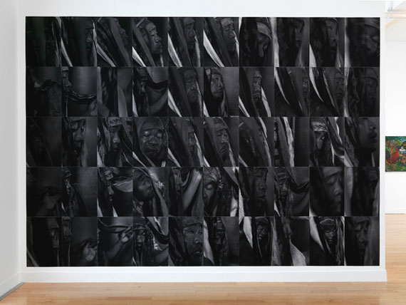 Algirdas Šeškus, Shaman, 2012, inkjet print, installation view, Benaki Museum—Pireos Street Annexe, Athens, documenta 14, photo: Stathis Mamalakis