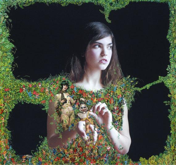 Elene UsdinOlga d'après Zarraga (La Femme et le pantin), 2017Acrylic paint on pigment print, white frame, 67 x 67 cmUnique piece© Elene Usdin, courtesy Galerie Esther Woerdehoff