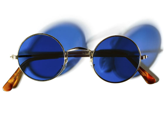 © Henry LeutwylerJohn Lennon's (1940 - 1980) gold wire-rimmed sunglasses with blue lensesFrom the series Document, 2007