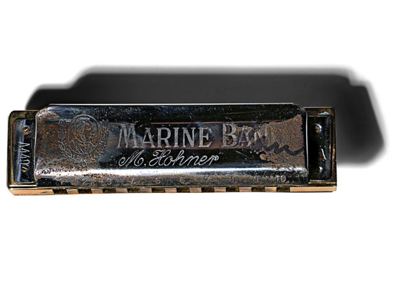 © Henry LeutwylerBob Dylan's (b. 1941) M. Hohner Marine Band Harmonica - serial number A449From the series Document, 2017