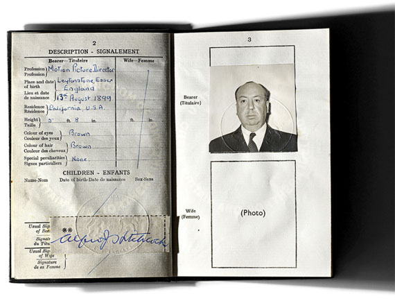 © Henry LeutwylerAlfred Hitchcock's (1899 - 1980) last British passport before he became a United States citizen in 1955From the series Document, 2007