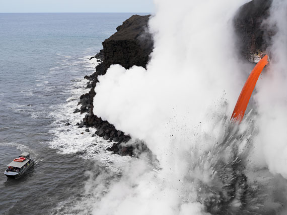 Lava Boat Tour, Hawaii. © Lucas Foglia, courtesy Michael Hoppen Gallery