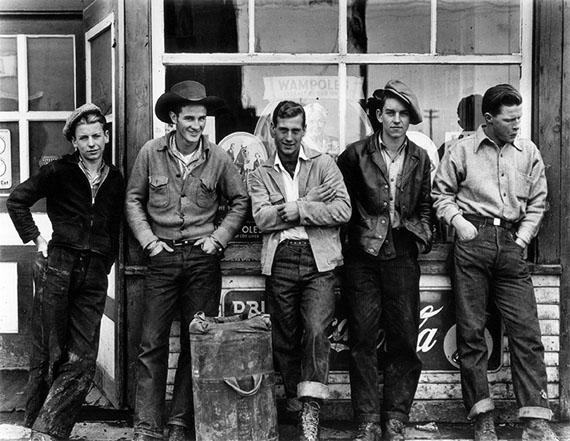 Gordon Parks: Drugstore Cowboys, Turner Valley, Canada, 1945Courtesy of and © The Gordon Parks Foundation