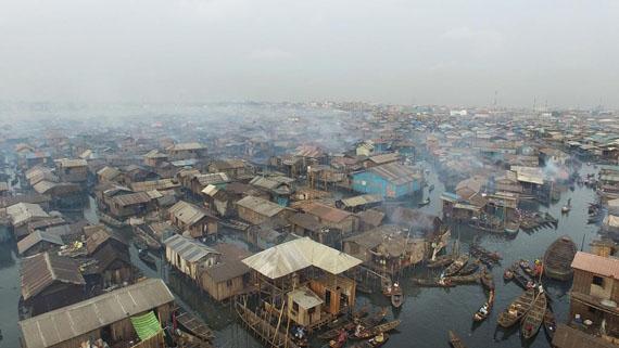 Still image from the video Lagos, from the series Wasteland, 2016-2017 © Kadir van Lohuizen /ILEX Gallery