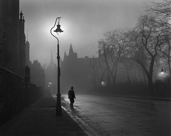 © René Groebli: Man with Lantern (No. 1204), London, 1949