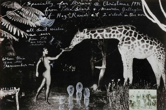 323.Peter Beard (1938)Maureen Gallagher and a late night feeder, Hog Ranch, 1987.Gelatin silver print (1996)
