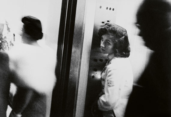 Robert FrankElevator - Miami Beach (from the series: The Americans), 1955Gelatin silver print, printed before 1989 22.9 x 33.3 cm (27.7 x 35.5 cm)Estimate € 30.000 - 40.000Lot 80 / Auction 1098 Photography