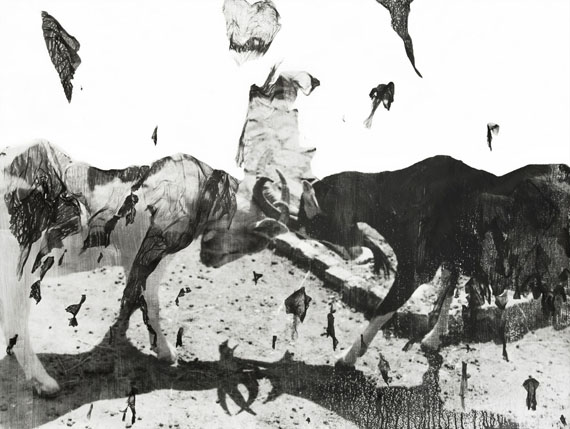 "Valentina Murabito: ""Vite sacre"", 130 x 100 cm, Handabzug analog s/wFotografie, Fotoemulsion auf Aquarellpapier, Unikat, 2017© Valentina Murabito"