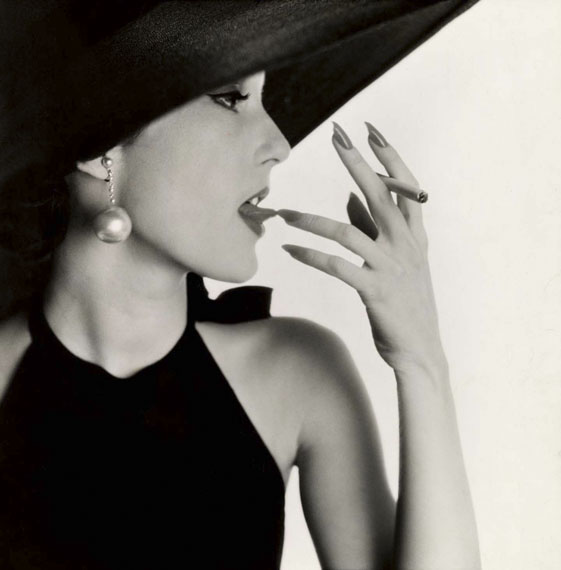 Irving Penn: Girl with Tobacco on Tongue (Mary Jane Russell), New York, 1951 © Condé Nast