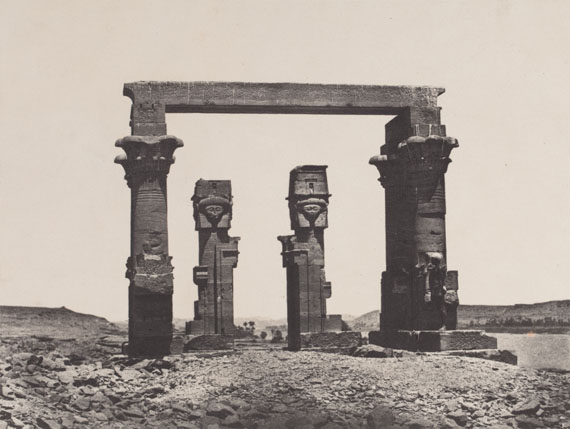 207. Maxime Du Camp Nubia. 1850. Kardassy temple. Pl. 87. Salt print.